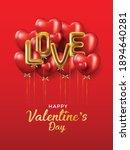 happy valentines day vector... | Shutterstock .eps vector #1894640281