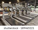 treadmills in modern gym  | Shutterstock . vector #189465221