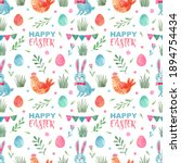 Easter Seamless Pattern With...