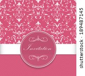 invitation or wedding card with ... | Shutterstock .eps vector #189487145