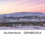 Snowy Sunrise Over Penhill In...