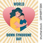 mom hug her son with down... | Shutterstock .eps vector #1894897384