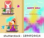 happy holi celebration... | Shutterstock .eps vector #1894924414