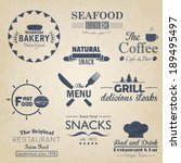 food and drink restaurant retro ... | Shutterstock .eps vector #189495497