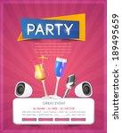 party poster flyer | Shutterstock .eps vector #189495659