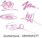 pink brush strokes. elegant... | Shutterstock .eps vector #1894969177