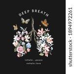 Deep Breath Slogan With...