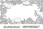 frame of lemon fruit hand drawn ... | Shutterstock .eps vector #1894984867