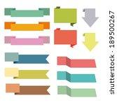 set of ribbons | Shutterstock .eps vector #189500267