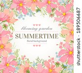 vector wedding invitation with... | Shutterstock .eps vector #189506687
