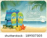 vector summer background with... | Shutterstock .eps vector #189507305