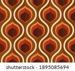 70's retro seamless wallpaper... | Shutterstock .eps vector #1895085694