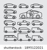vehicle car vector line icons... | Shutterstock .eps vector #1895122021