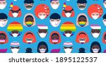 seamless pattern with people of ...   Shutterstock .eps vector #1895122537