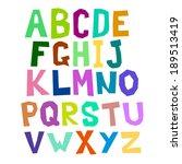multicolored alphabet curve | Shutterstock . vector #189513419
