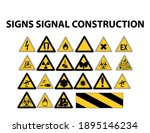 signs signal construction... | Shutterstock .eps vector #1895146234