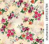 botanical flower pattern ...   Shutterstock . vector #1895151784