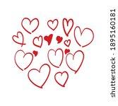 beautiful hand made heart pack | Shutterstock .eps vector #1895160181