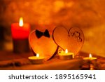 Two Hearts And Candles On...