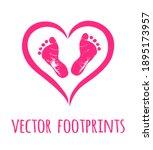 Vector Pink Baby Footprints...