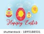 festive spring card for easter... | Shutterstock .eps vector #1895188531