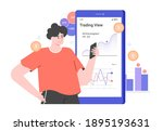 personal investment. mobile... | Shutterstock .eps vector #1895193631