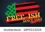 juneteenth freedom day. african ... | Shutterstock .eps vector #1895213224