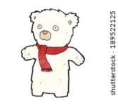 cartoon cute polar bear | Shutterstock .eps vector #189522125