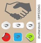 handshake icon   Shutterstock .eps vector #189532061