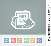 news tablet website   Shutterstock .eps vector #189539477