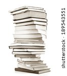 high books stack isolated on... | Shutterstock . vector #189543551