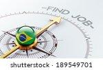 brazil high resolution find job ...   Shutterstock . vector #189549701