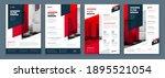 flyer design set. dark red... | Shutterstock .eps vector #1895521054