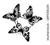 butterflies design | Shutterstock .eps vector #189558104