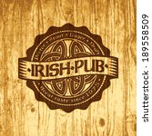 retro styled label of pub or... | Shutterstock .eps vector #189558509