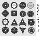 set of blank retro vintage... | Shutterstock .eps vector #189566261
