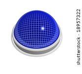 blank 3d shiny blue button | Shutterstock . vector #18957322