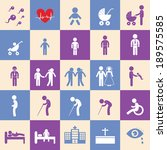 vector basic icon set for human ... | Shutterstock .eps vector #189575585