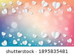 abstract flying red and white...   Shutterstock .eps vector #1895835481