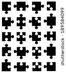 a collection of vector jigsaw... | Shutterstock .eps vector #189584099