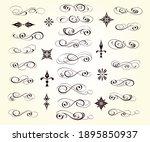 set of calligraphic decorative... | Shutterstock .eps vector #1895850937