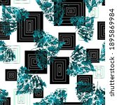 black and white squares  blue... | Shutterstock . vector #1895869984