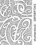 polynesian ethnic ornament.... | Shutterstock . vector #1895897341