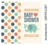 baby shower invitation card... | Shutterstock .eps vector #189591287