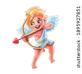 cupid characters with bow and... | Shutterstock .eps vector #1895927851