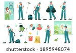 set of cleaning service... | Shutterstock .eps vector #1895948074