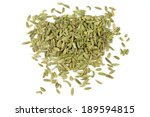 Fennel Seeds Isolated On White...