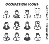 occupation icons  mono vector... | Shutterstock .eps vector #189596591