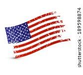 american flag   dirty  grunge ... | Shutterstock . vector #189598874