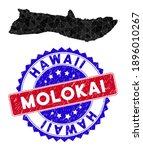 Molokai Island Map Polygonal...